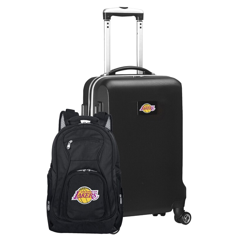 Los Angeles Lakers Deluxe 2-Piece Backpack and Carry-On Set - Black