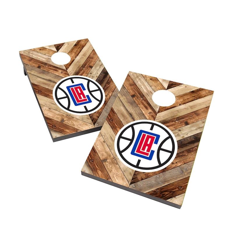 LA Clippers 2' x 3' Cornhole Board Tailgate Toss Set