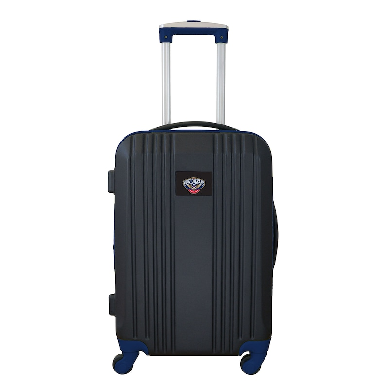 """New Orleans Pelicans 21"""" Hardcase Two-Tone Spinner Carry-On - Black"""