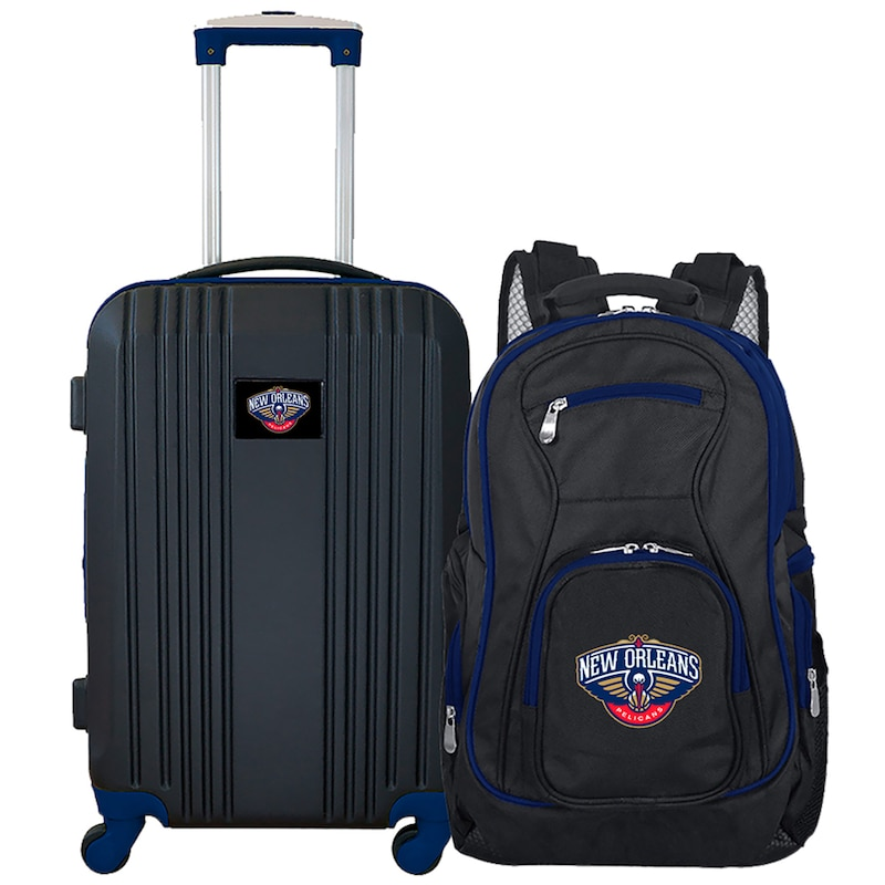 New Orleans Pelicans 2-Piece Luggage & Backpack Set - Black