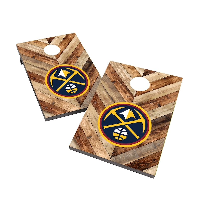 Denver Nuggets 2' x 3' Cornhole Board Tailgate Toss Set