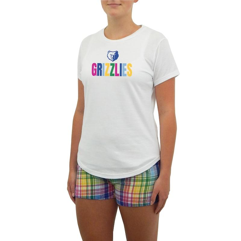 Memphis Grizzlies Concepts Sport Women's Razzle Knit T-Shirt & Short Set - White