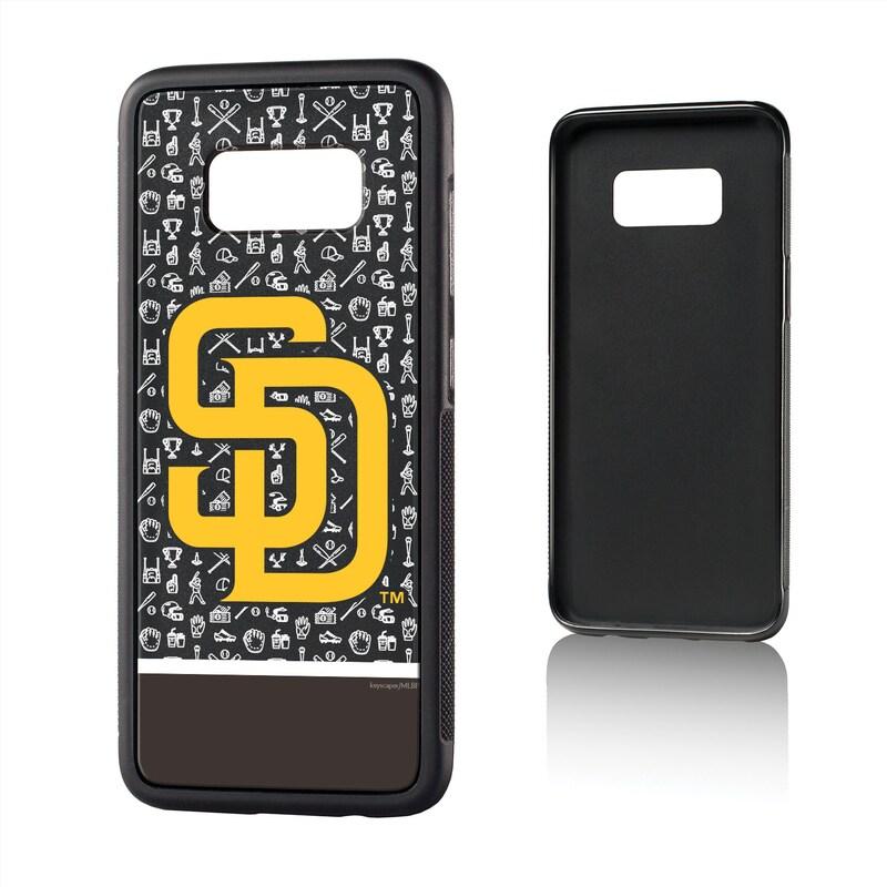 San Diego Padres Galaxy S8 Stripe Logo Bump Case