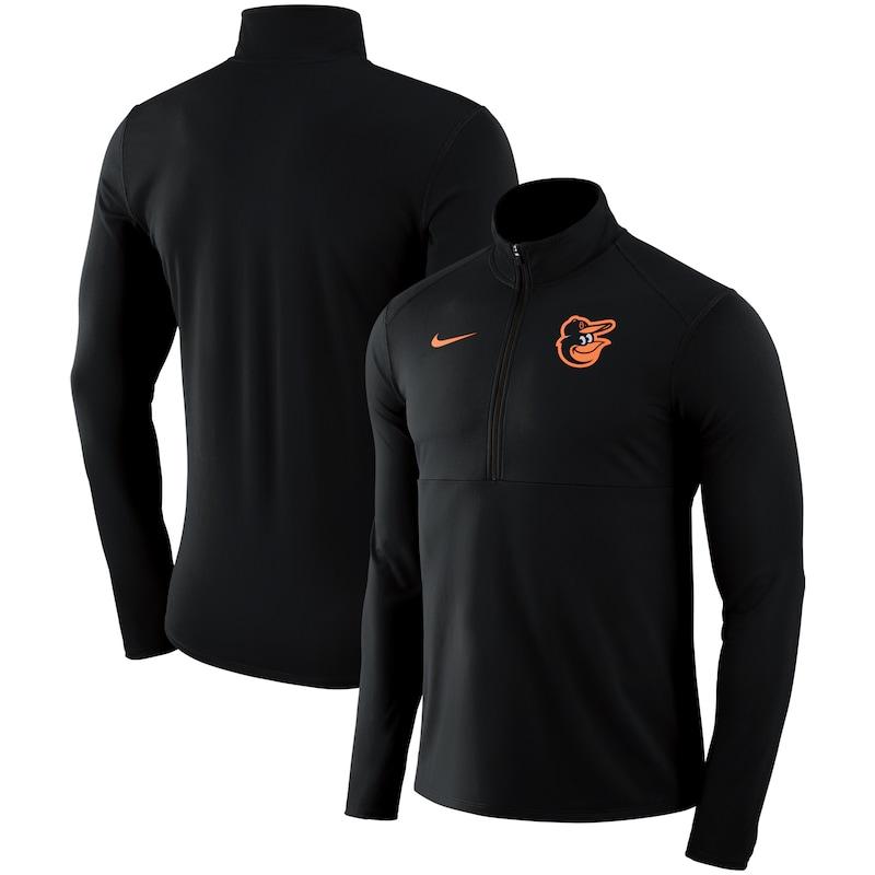 Baltimore Orioles Nike Dry Element Half-Zip Performance Pullover - Black