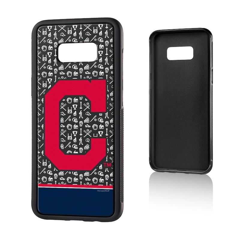 Cleveland Indians Galaxy S8 Plus Stripe Logo Bump Case