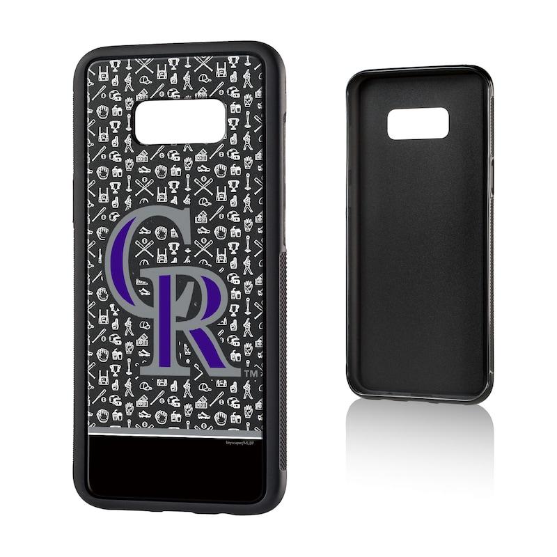 Colorado Rockies Galaxy S8 Plus Stripe Logo Bump Case