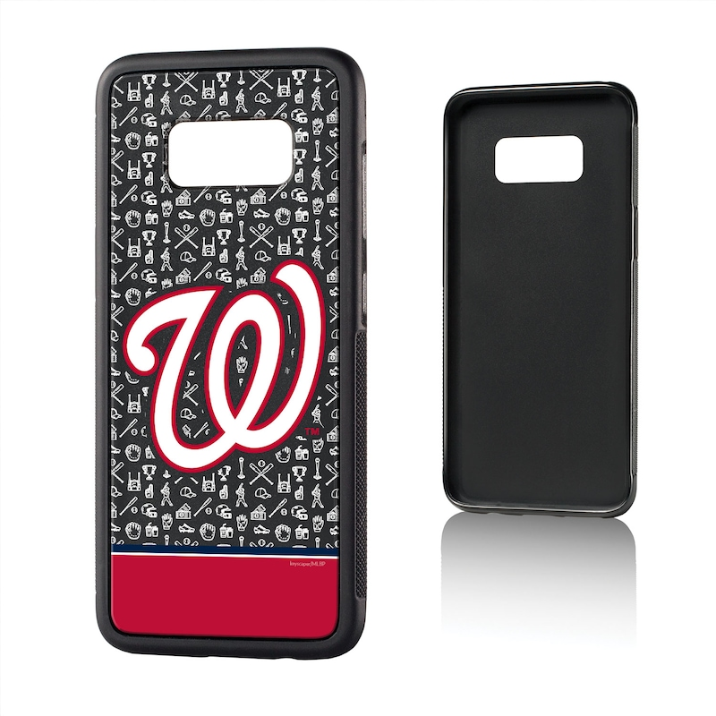 Washington Nationals Galaxy S8 Stripe Logo Bump Case