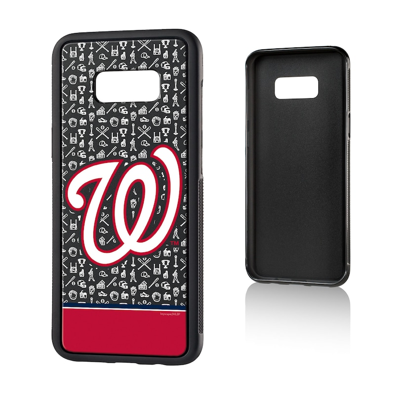 Washington Nationals Galaxy S8 Plus Stripe Logo Bump Case