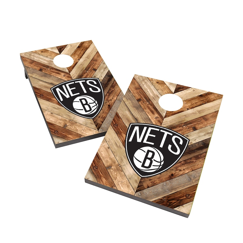 Brooklyn Nets 2' x 3' Cornhole Board Tailgate Toss Set