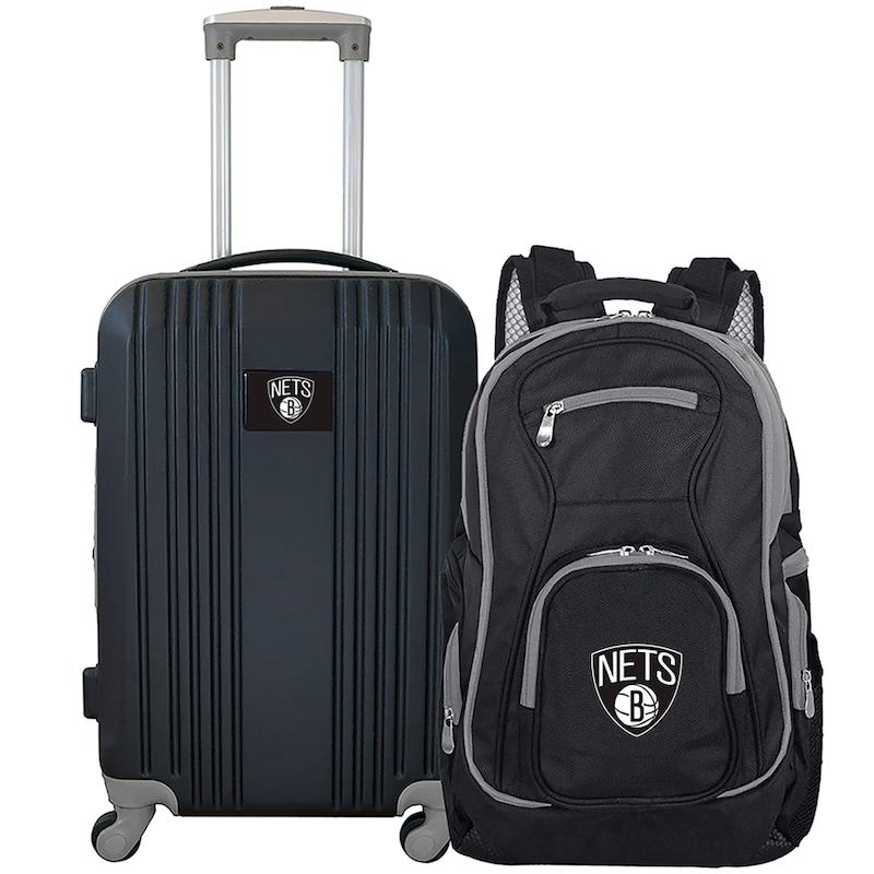 Brooklyn Nets 2-Piece Luggage & Backpack Set - Black