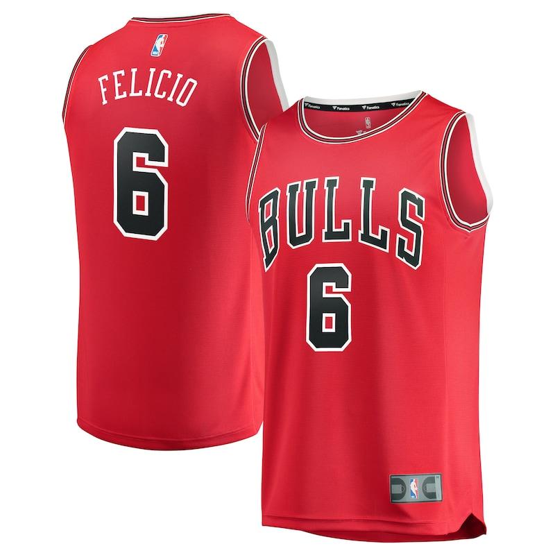 Chicago Bulls Cristiano Felicio Fanatics Branded Youth Fast Break Player Jersey - Icon Edition - Red