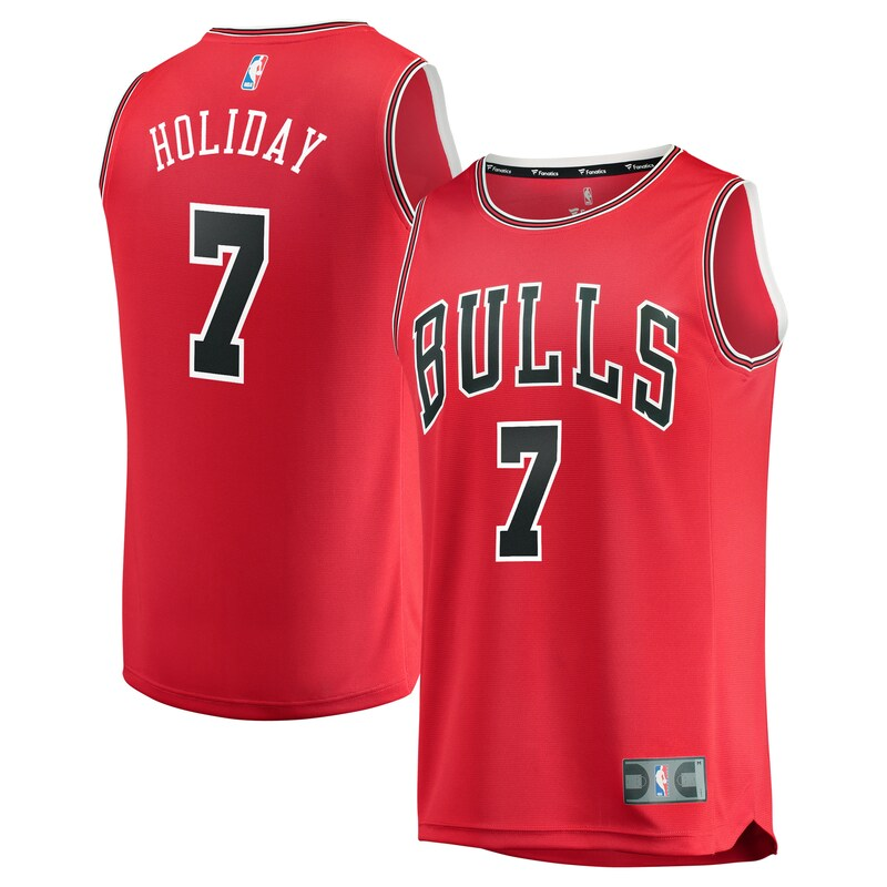 Chicago Bulls Justin Holiday Fanatics Branded Youth Fast Break Player Jersey - Icon Edition - Red