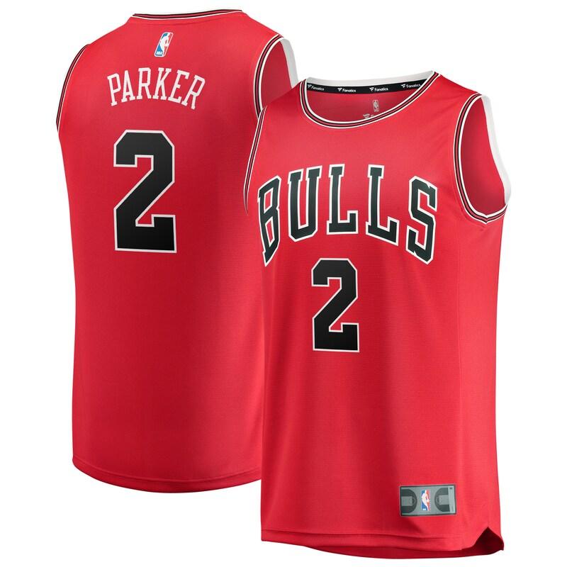 Jabari Parker Chicago Bulls Fanatics Branded Youth Fast Break Replica Jersey Red - Icon Edition