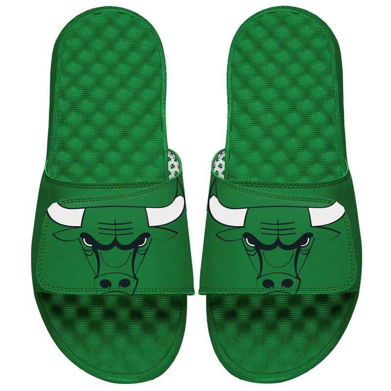Chicago Bulls ISlide Green Bull Slide Sandals - Green