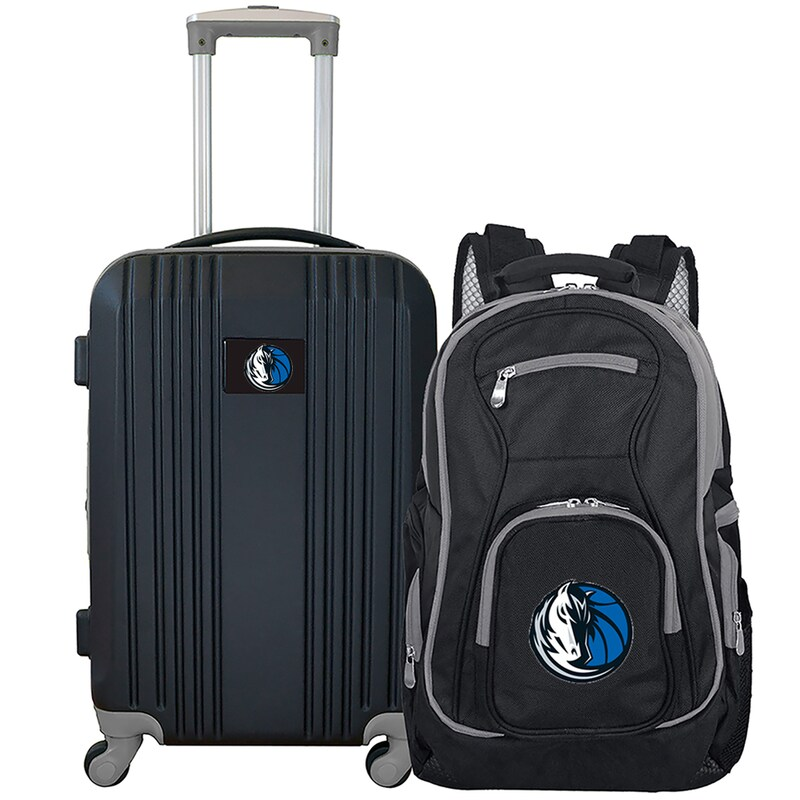 Dallas Mavericks 2-Piece Luggage & Backpack Set - Black