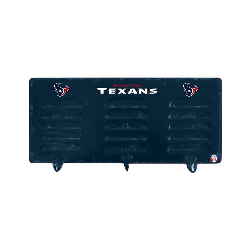 Houston Texans 3-Hook Metal Locker Coat Rack