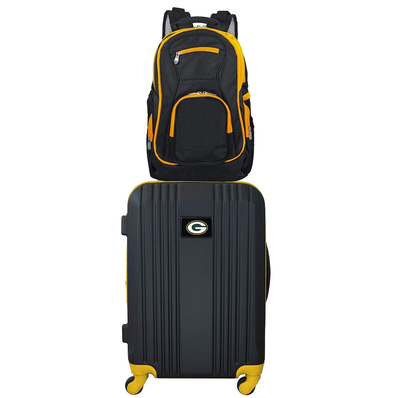 Green Bay Packers 2-Piece Backpack & Carry-On Luggage Set - Yellow