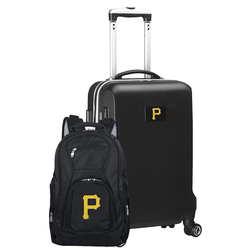 Pittsburgh Pirates Deluxe 2-Piece Backpack and Carry-On Set - Black