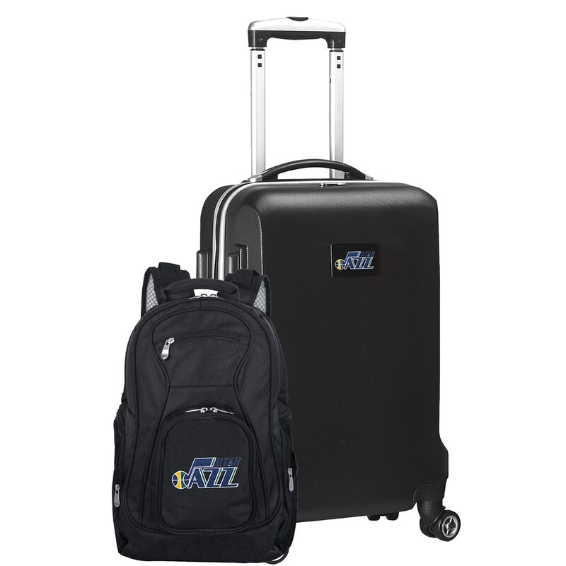Utah Jazz Deluxe 2-Piece Backpack and Carry-On Set - Black