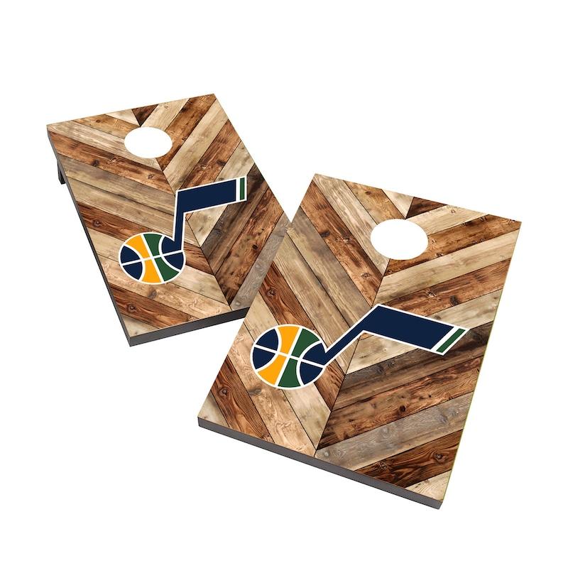 Utah Jazz 2' x 3' Cornhole Board Tailgate Toss Set