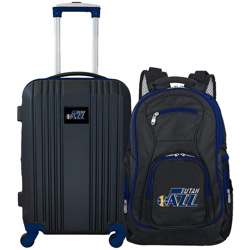 Utah Jazz 2-Piece Luggage & Backpack Set - Black