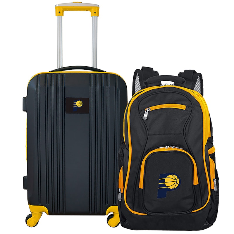 Indiana Pacers 2-Piece Luggage & Backpack Set - Black