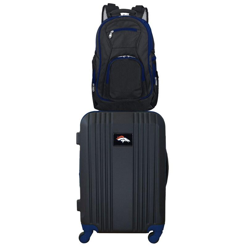 Denver Broncos 2-Piece Backpack & Carry-On Luggage Set - Navy