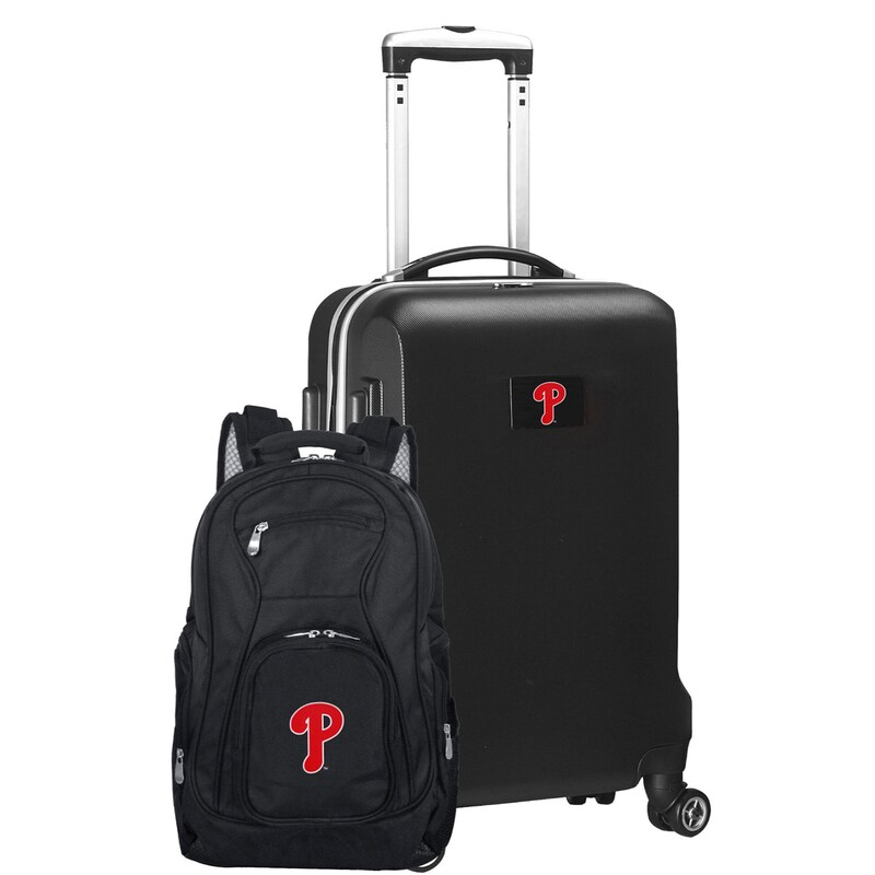 Philadelphia Phillies Deluxe 2-Piece Backpack and Carry-On Set - Black