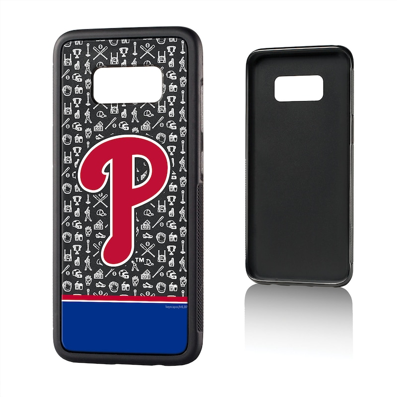 Philadelphia Phillies Galaxy S8 Stripe Logo Bump Case