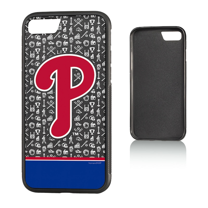 Philadelphia Phillies iPhone 7/8 Logo Stripe Bump Case