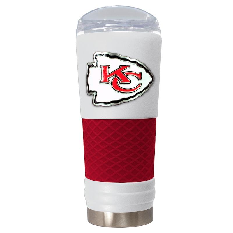 Kansas City Chiefs 24oz. Powder Coated Draft Travel Mug - White