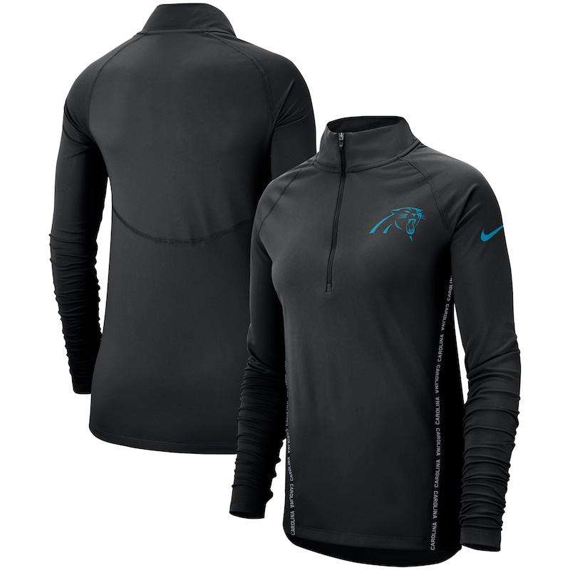 Carolina Panthers Nike Women's Core Half-Zip Pullover Jacket - Black