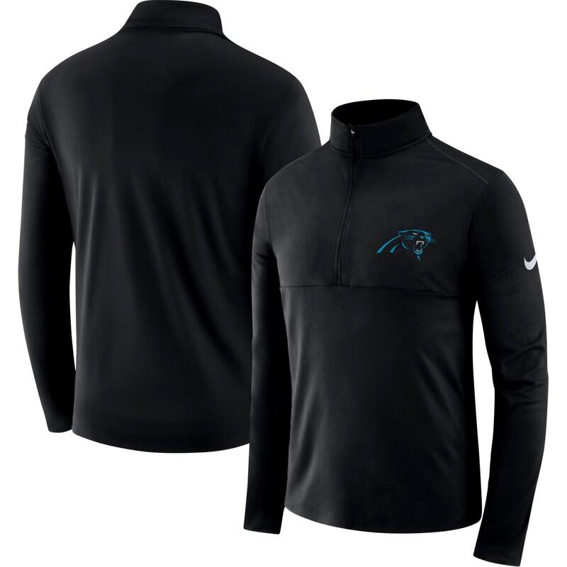Carolina Panthers Nike Fan Gear Element Half-Zip Performance Jacket - Black