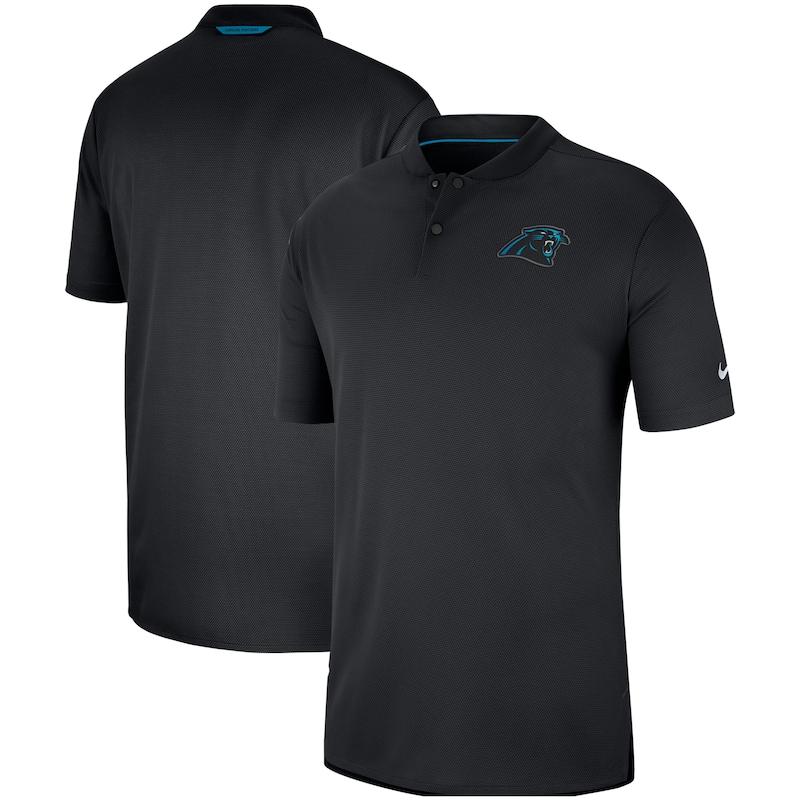 Carolina Panthers Nike Sideline Elite Coaches Performance Polo - Black