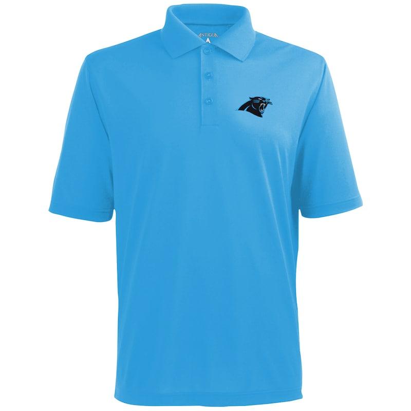 Men's Antigua Carolina Blue Carolina Panthers Pique Xtra-Lite Polo