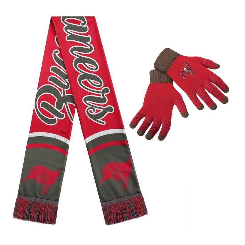 Tampa Bay Buccaneers Women's Gloves And Scarf Set