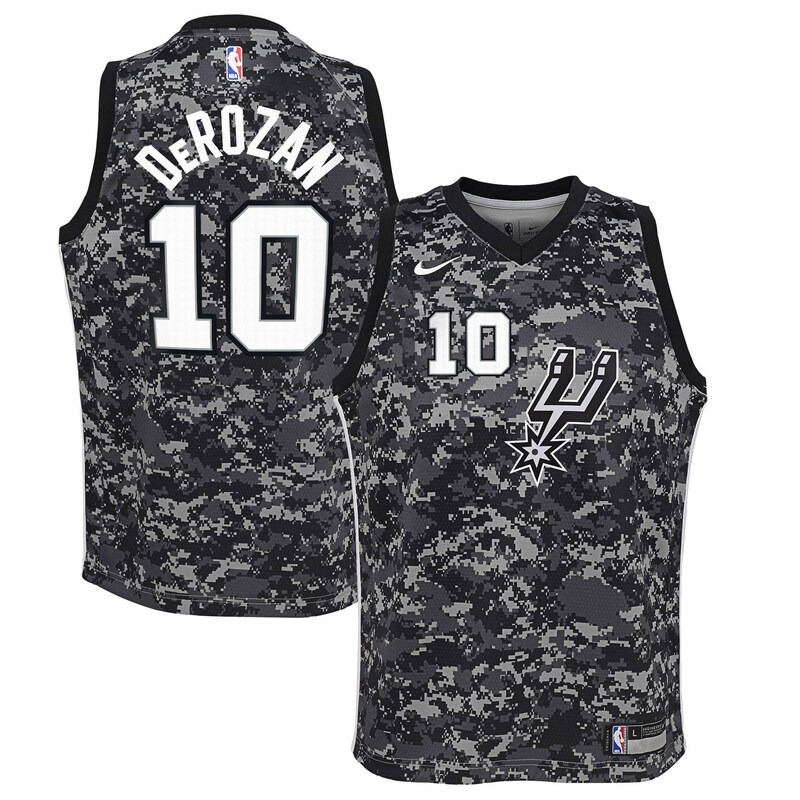 DeMar DeRozan San Antonio Spurs Nike Youth Swingman Jersey Black - City Edition
