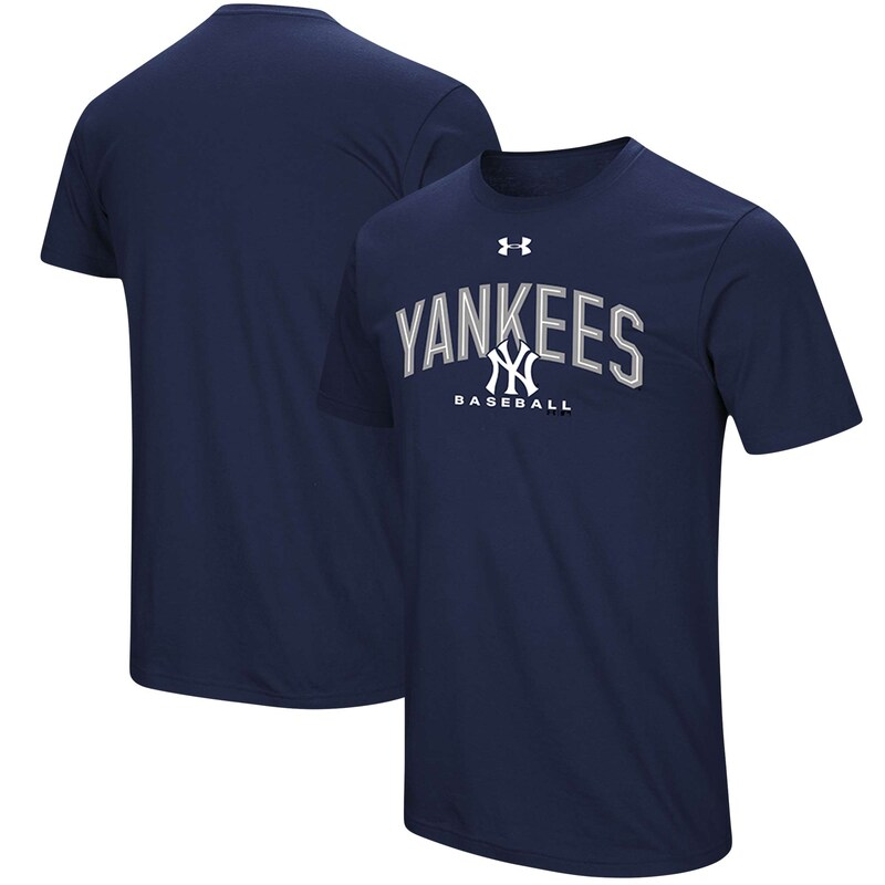New York Yankees Under Armour Performance Arch T-Shirt - Navy