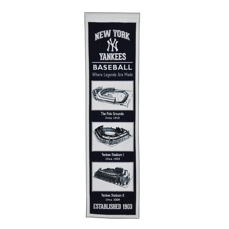 "New York Yankees 8"" x 32"" Stadium Evolution Banner"