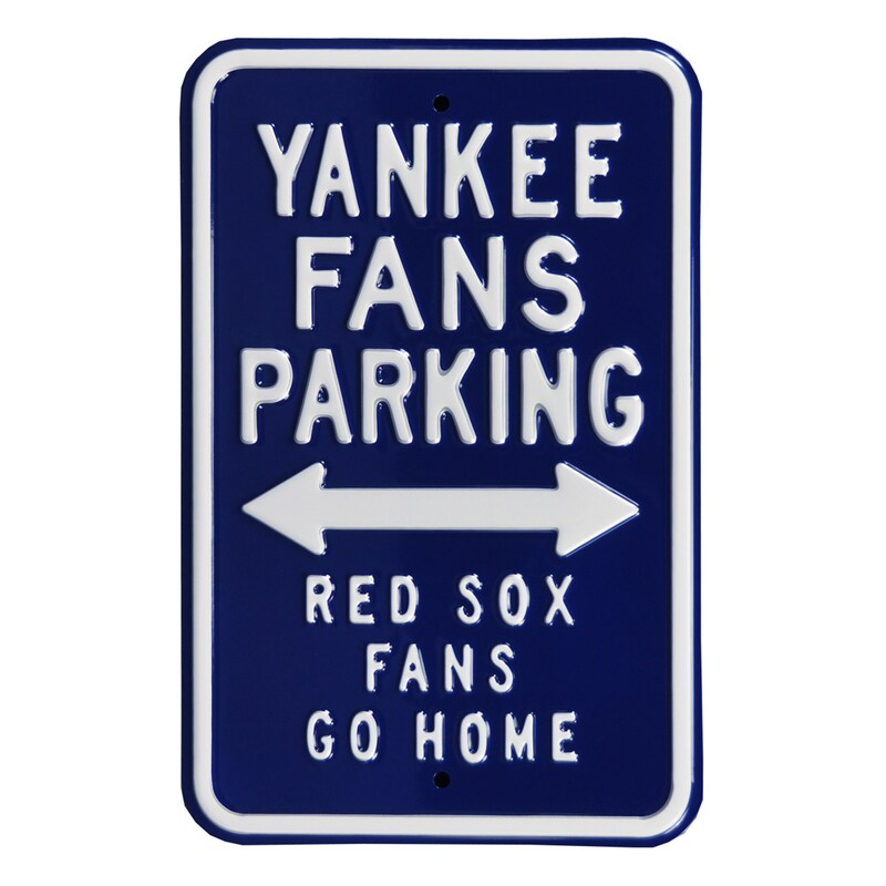 "New York Yankees Go Home 12"" x 18"" Steel Parking Sign"