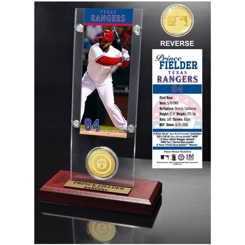 Texas Rangers Prince Fielder 2015 Player Ticket & Coin