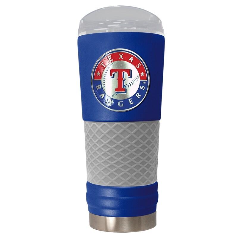 Texas Rangers 24oz. Powder Coated Draft Travel Mug - Blue