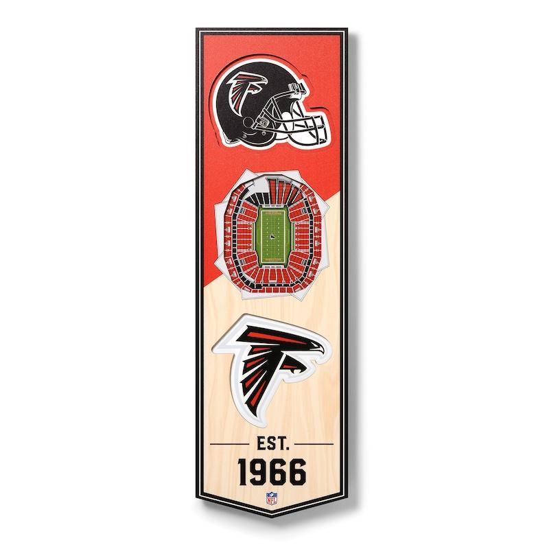 Atlanta Falcons 6'' x 19'' 3D StadiumView Banner