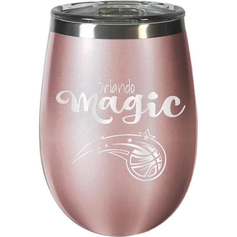 Orlando Magic 12oz. Rose Gold Wine Tumbler