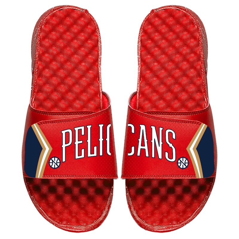 New Orleans Pelicans ISlide Youth Statement Jersey Split Slide Sandals - Red