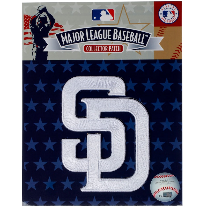 San Diego Padres SD Emblem Sleeve Patch - White