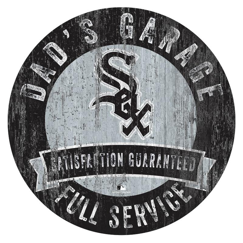 """Chicago White Sox 12"""" x 12"""" Dad's Garage Sign"""