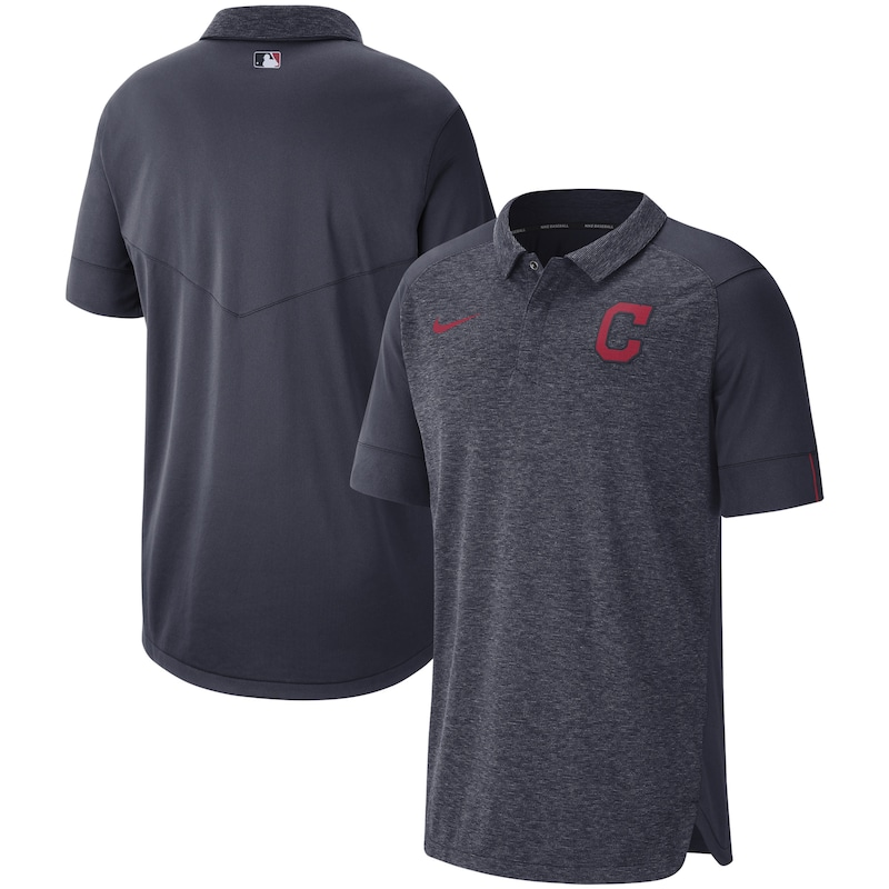 Cleveland Indians Nike Authentic Collection Team Logo Elite Performance Polo - Navy