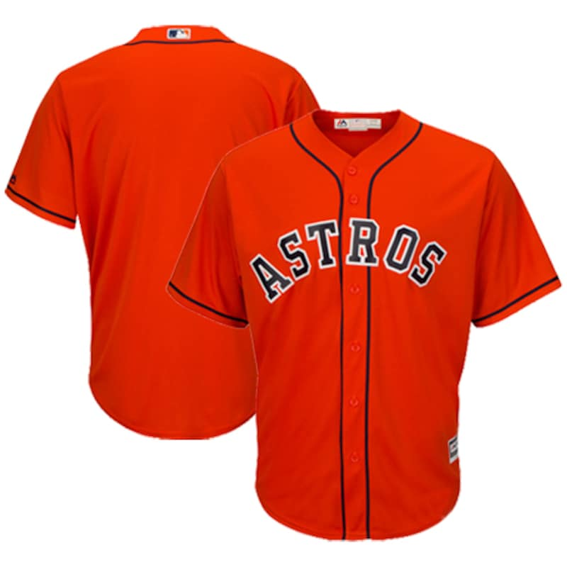 Houston Astros Majestic Official Cool Base Jersey - Orange