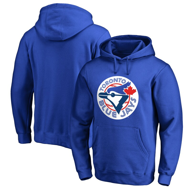 Toronto Blue Jays Fanatics Branded Cooperstown Collection Huntington Big & Tall Pullover Hoodie - Royal